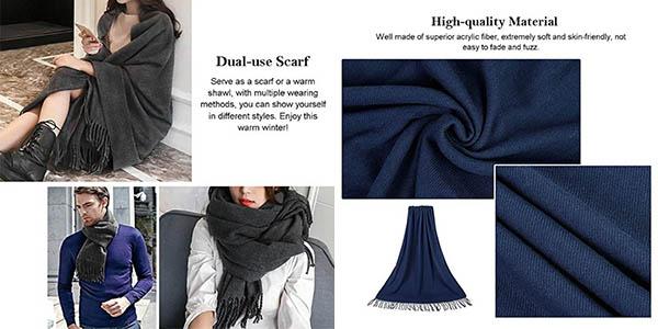 bufanda larga Vbiger relación calidad-precio estupenda