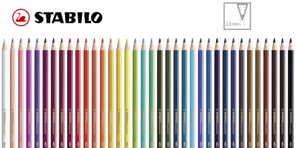 Paquete de 36 lápices Stabilo Aquacolor de color acuarelable chollazo en Amazon
