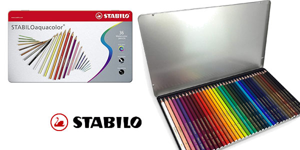 Paquete de 36 lápices Stabilo Aquacolor de color acuarelable barato en Amazon