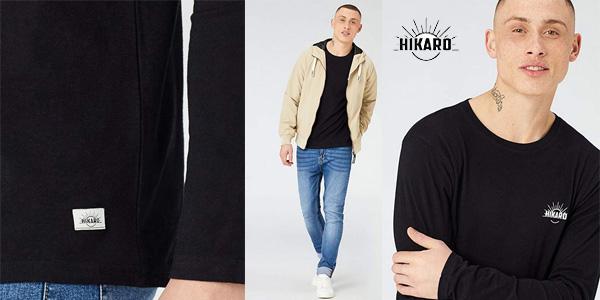 Camiseta manga larga HIKARO para hombre chollo en Amazon