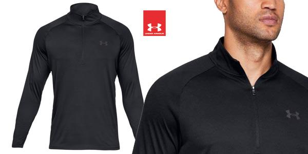 Camiseta técnica Under Armour Tech 1/2 Zip 2.0 para hombre chollazo en Amazon