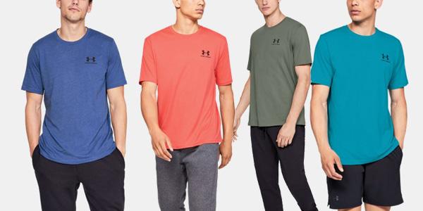 Camiseta Under Armour Sport Style Left Chest de maga corta para hombre barata en Amazon
