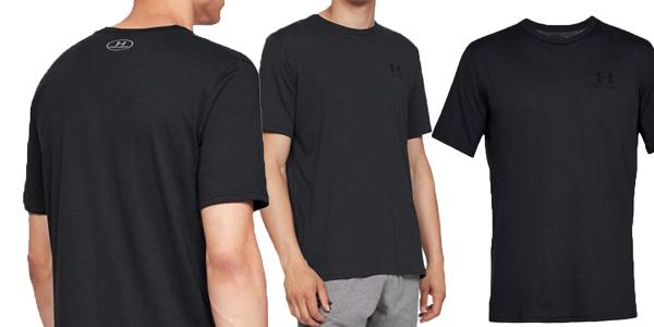 Camiseta Under Armour Sport Style Left Chest de maga corta para hombre chollazo en Amazon