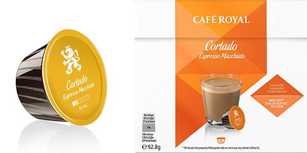 cápsulas Royal Cortado compatibles con Nescafé Dolce Gusto pack ahorro
