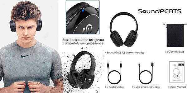 Auriculares SoundPEATS A2 con Bluetooth 4.1 y micro en oferta
