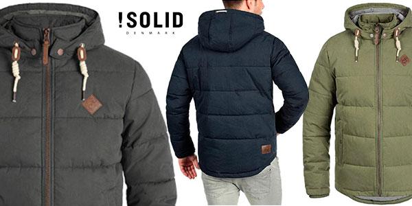 Chollo Chaqueta de invierno !Solid Dry con capucha desmontable en varios modelos para hombre