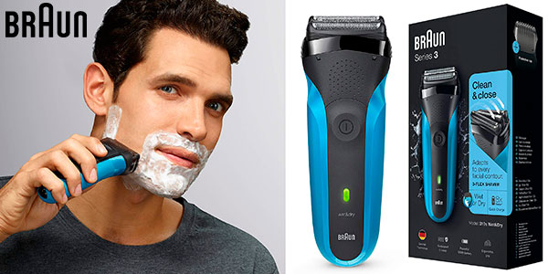 Chollo Afeitadora eléctrica Braun 310s Serie 3 recargable