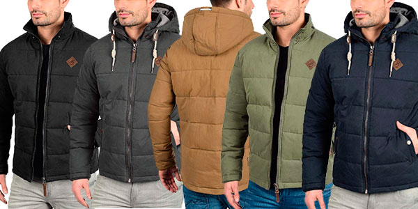 Chaqueta de invierno !Solid Dry con capucha desmontable en varios modelos para hombre barata