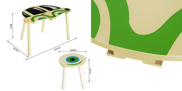 Conjunto infantil Homcom de mesa y 2 sillas de madera chollo en eBay