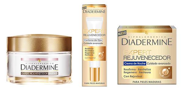 cremas Diadermine Expert para pieles maduras crema de noche crema de dia y corrector chollo
