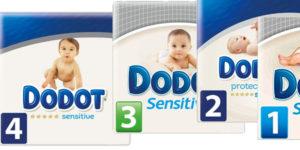 Pañales Dodot Sensitive en oferta en Amazon