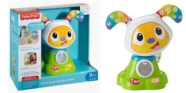Juguete electrónico Fisher Price Guau Guau perrito robot (Mattel FJF45) barato en Amazon