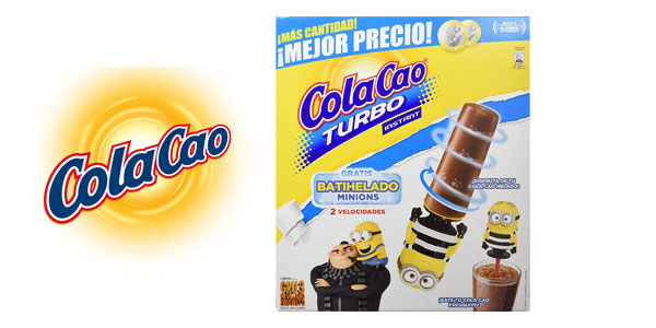 Maleta Cacao soluble Cola Cao turbo instant 2,75 kg barata en Amazon