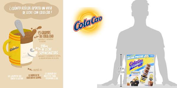 Maleta Cacao soluble Cola Cao turbo instant 2,75 kg chollo en Amazon
