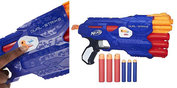 Nerf Elite Dual Strike con recambios de balas chollo