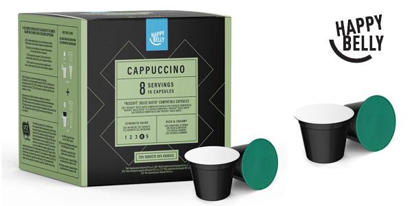 Pack 3 Paquetes de 16 cápsulas Café Capuccino Happy Belly chollo en Amazon