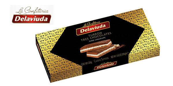 Pack x5 Tabletas Turrón Delaviuda tres chocolates chollo en Amazon