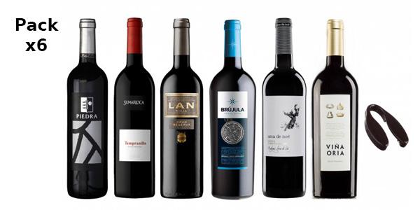 """Pack de 6 Vinos Tintos """" ¡Triunfa en Nochebuena! """" barato en eBay"""