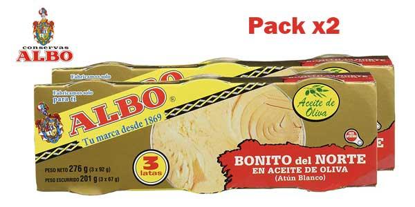 Pack x6 latas Bonito del Norte Albo en aceite de oliva barato en Amazon