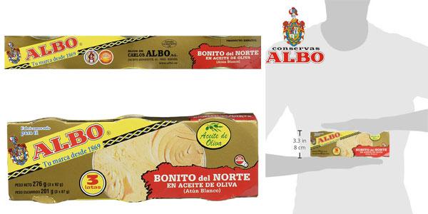 Pack x6 latas Bonito del Norte Albo en aceite de oliva chollo en Amazon