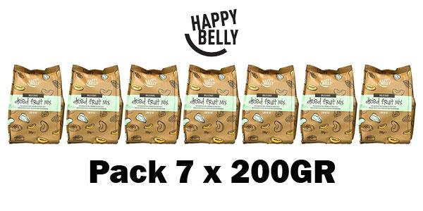 Mezcla de frutas deshidratada Happy Belly Marca Amazon, 7 x 200gr barato en Amazon