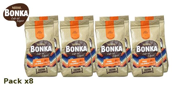 Pack x8 Bonka Café molido de tueste natural Puro Colombia y cultivo sostenible barato en Amazon