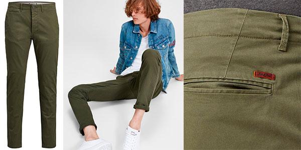 Pantalones chinos Jack & Jones Marco Enzo slim fit para hombre en oferta