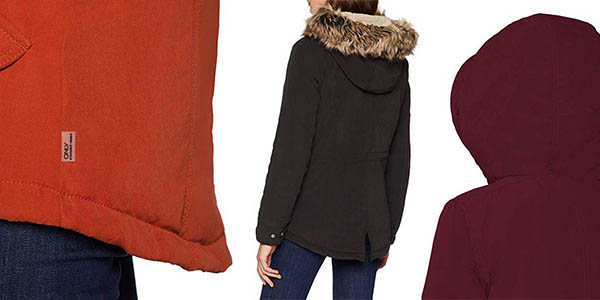 parka casual con capucha de pelo sintético Only Lucca relación calidad-precio genial