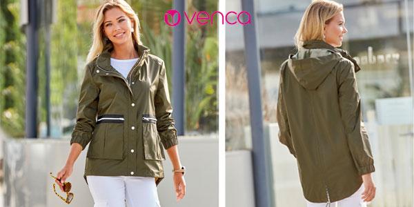 Parka ligera con capucha oculta VencaStyle para mujer chollazo en eBay
