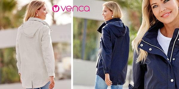 Parka ligera con capucha oculta VencaStyle para mujer chollo en eBay
