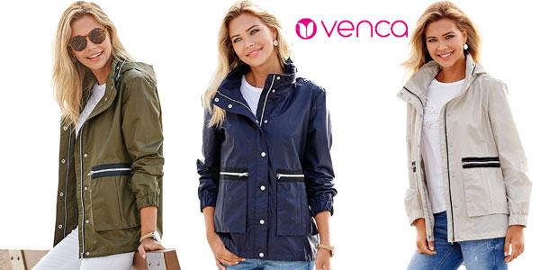 Parka ligera con capucha oculta VencaStyle para mujer barata en eBay
