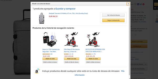 promoción Amazon España primera Lista de deseos código descuento