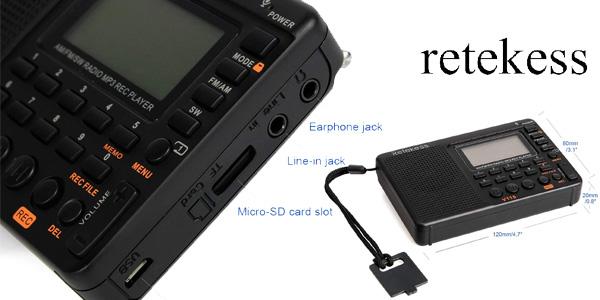 Radio Portátil digital Retekess V115 chollo en Amazon
