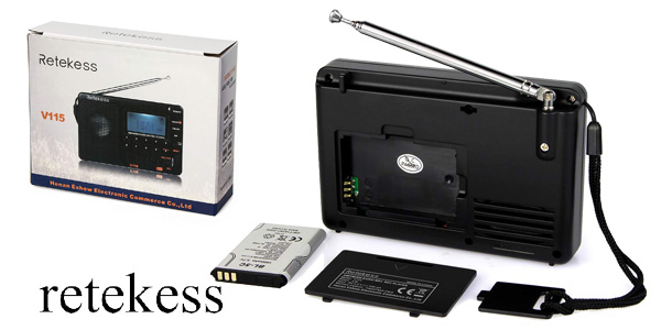 Radio Portátil digital Retekess V115 chollazo en Amazon