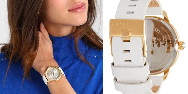 Reloj analógico Diesel Castilla DZ5565 en oro y blanco para mujer chollo en Amazon