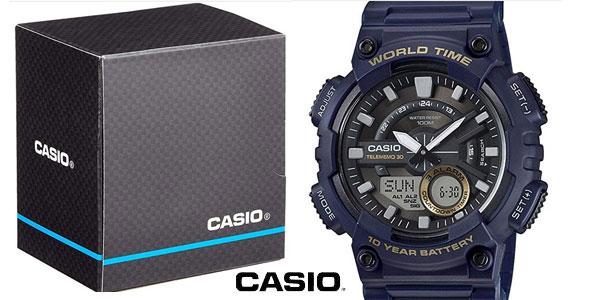 Reloj analógico digital Casio Collection AEQ-110W-2AVEF azul para hombre barato en Amazon