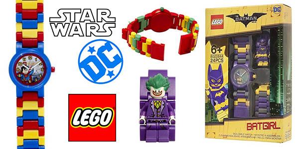 relojes infantiles LEGO Star Wars DC Comics baratos