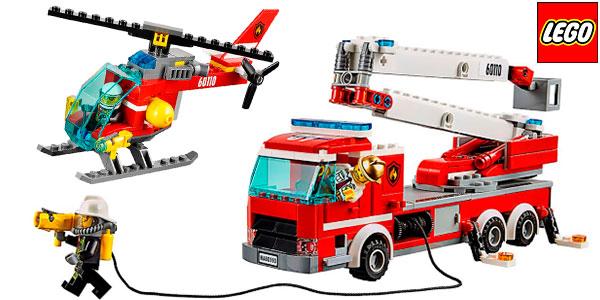 Set Estación de bomberos LEGO con 6 minifiguras barato