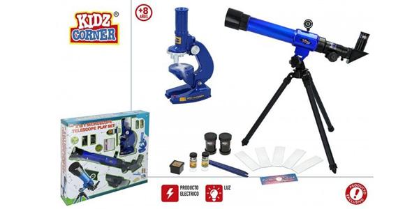 Set telescopio y Microscopio Kidz Corner 44830 barato en eBay