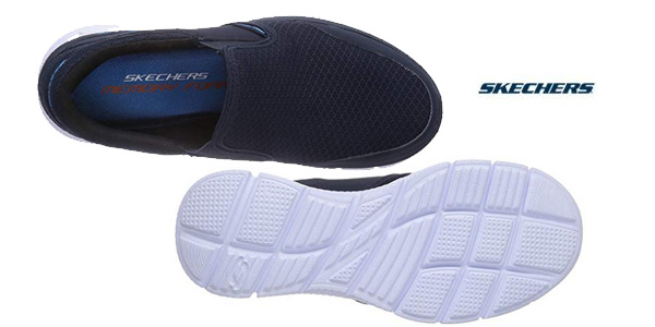 Zapatillas Skechers Equalizer Persistent azul navy para hombre chollo en Amazon
