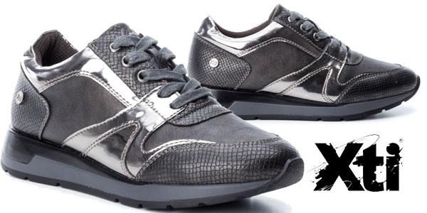 Zapatillas Xti Selma gris plomo para mujer baratas en eBay