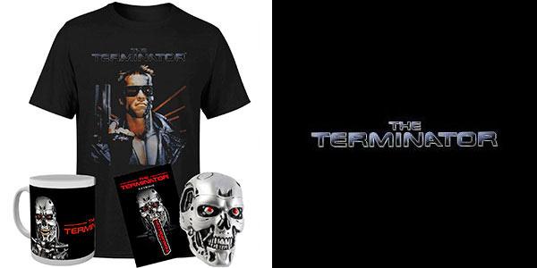 Pack Terminator camiseta, busto, llavero y taza barato en Zavvi