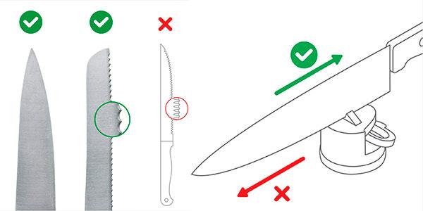 Afilador AnySharp de cuchillos de cocina barato