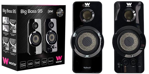 Altavoces Woxter Big Bass 95 de 20 W para PC baratos