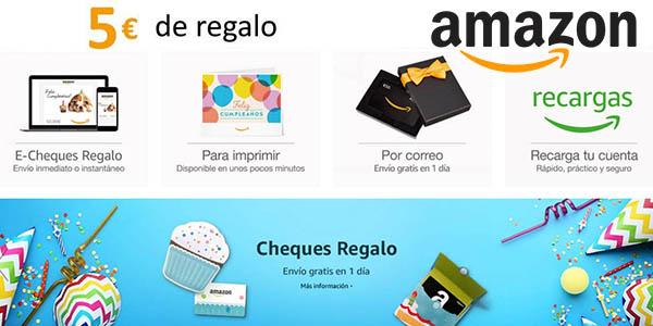 Amazon España cheque regalo promoción enero 2019