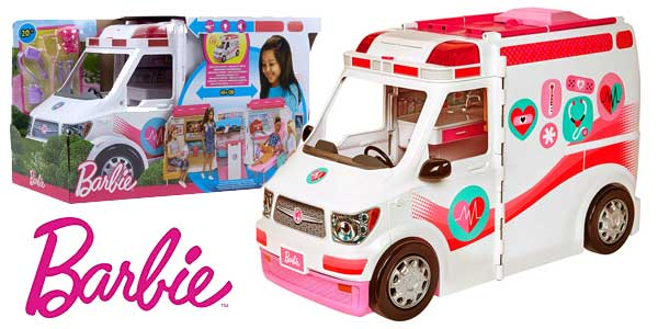 Ambulancia-Hospital 2 en 1 de Barbie (Mattel FRM19) barata en Amazon