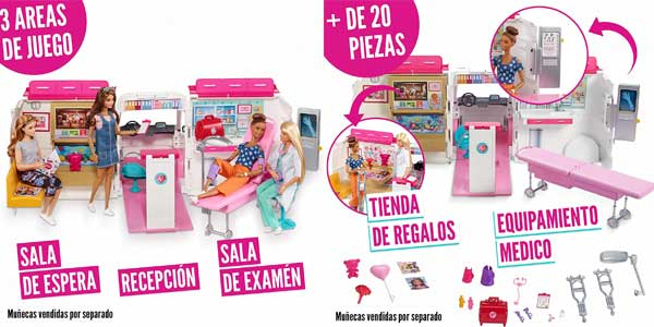 Ambulancia-Hospital 2 en 1 de Barbie (Mattel FRM19) chollo en Amazon