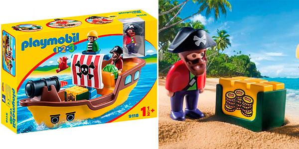 Barco pirata Playmobil 1-2-3 con 2 figuras barato
