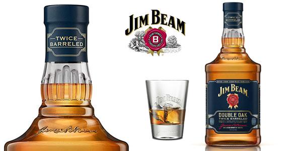 Whisky Bourbon Jim Beam Double Oak Twice Barreled chollo en Amazon