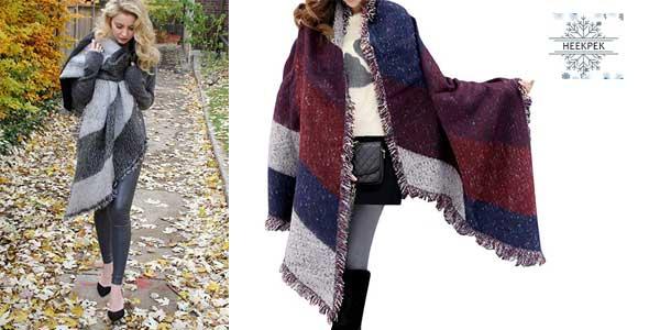 Bufanda de abrigo Heekpek para mujer chollo en Amazon